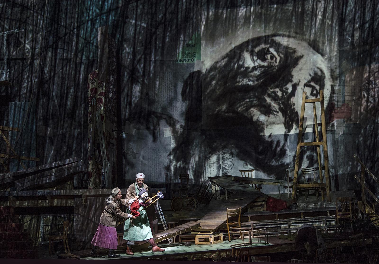 Sabine Theunissen, Wozzeck | Dir. William Kentridge | Salzburger Festspiele 2017 | © SF / Ruth Walz