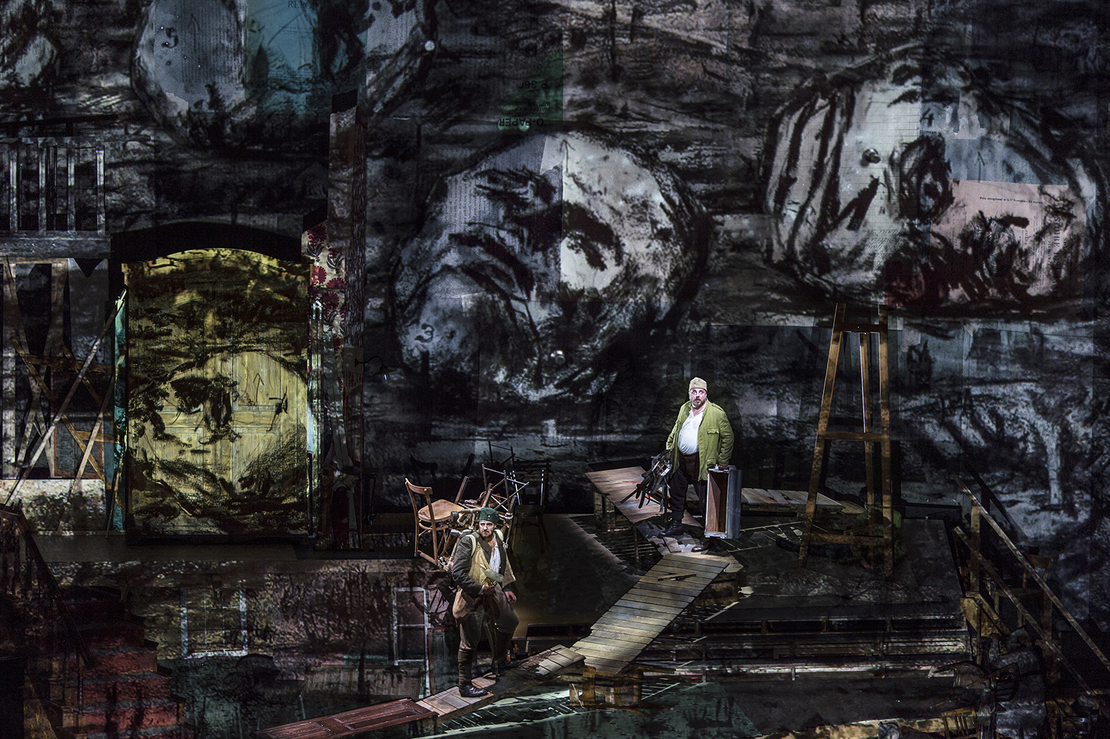 William Kentridge and Sabine Theunissen, Wozzeck | Salzburger Festspiele 2017 | © SF / Ruth Walz