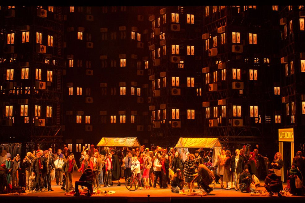 Alfons Flores, La Bohème | Staged by À. Ollé / La Fura dels Baus | Photo © Virginio Levrio
