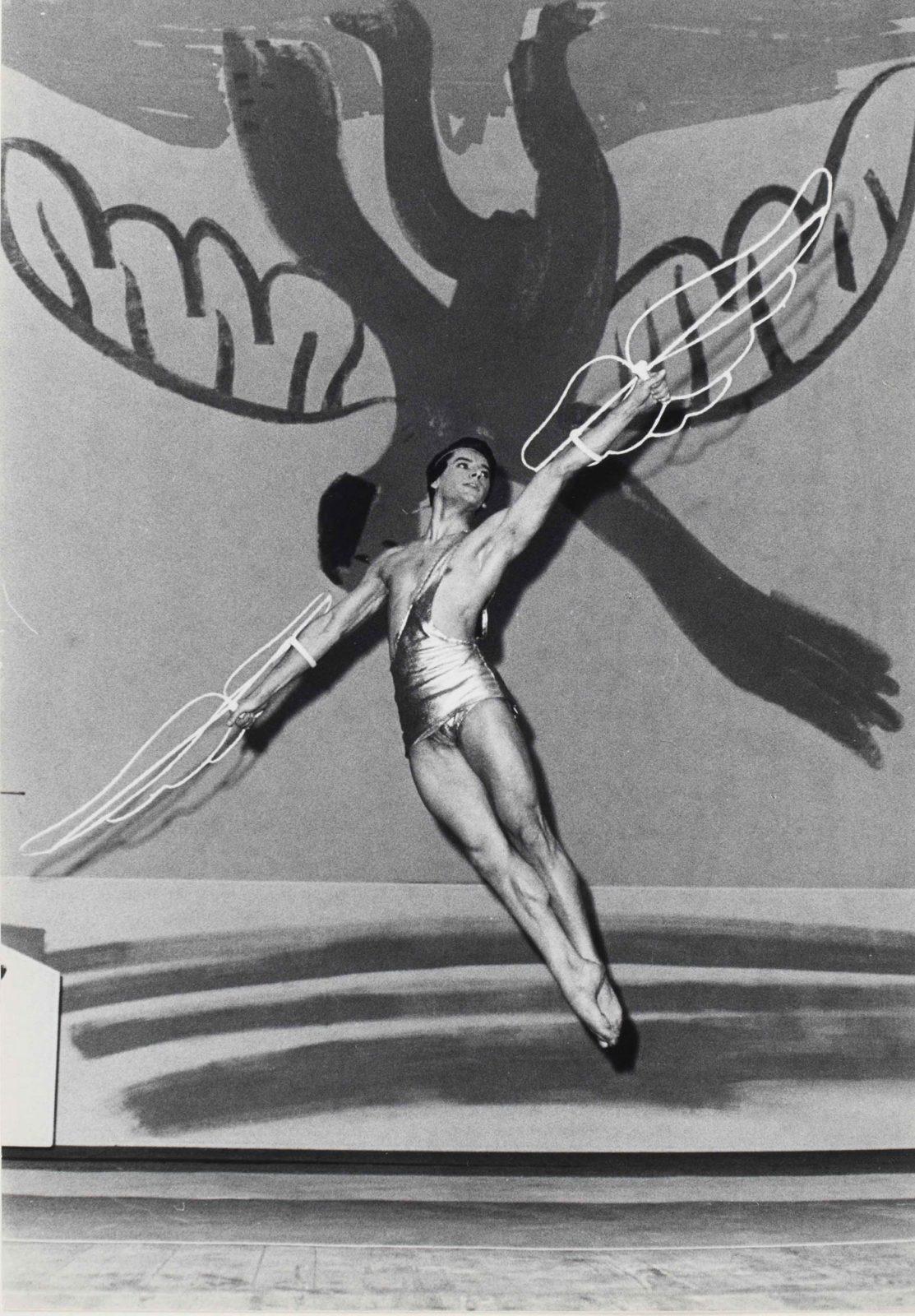 Attilio Labis in the title role of Icarus | Palais Garnier, Paris, 1962 | © Roger Pic / BnF / Bibliothèque-musée de l'Opéra © Succession Picasso 2018