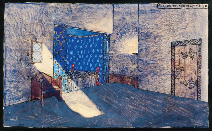 Genoveva (Tragedy by Friedrich Hebbel) Stage design for a planned production of Hermann Bahr at Max Reinhardt's Deutsches Theater in Berlin, around 1907 not realized Theatermuseum © KHM-Museumsverband