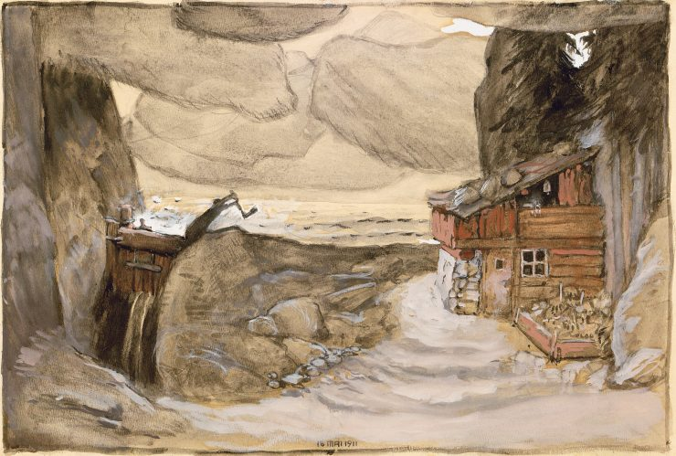 Der Bergsee (Opera by Julius Bittner) Stage design for the premiere at k. u k. Hof-Operntheater in Vienna, 1911 Theatermuseum © KHM-Museumsverband