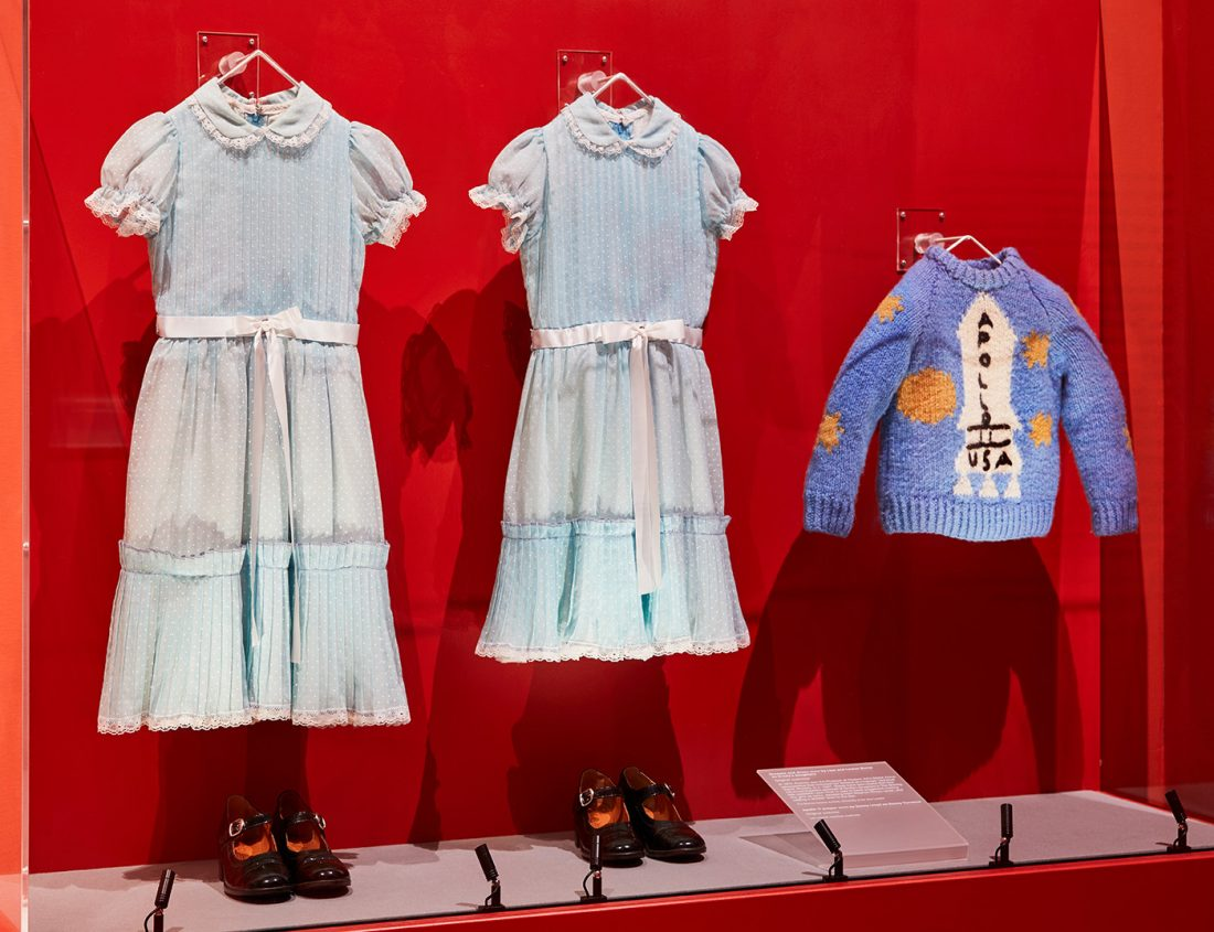 Grady sisters' costumes and Danny's jumper, original costumes from The Shining | © Ed Reeve for the Design Museum