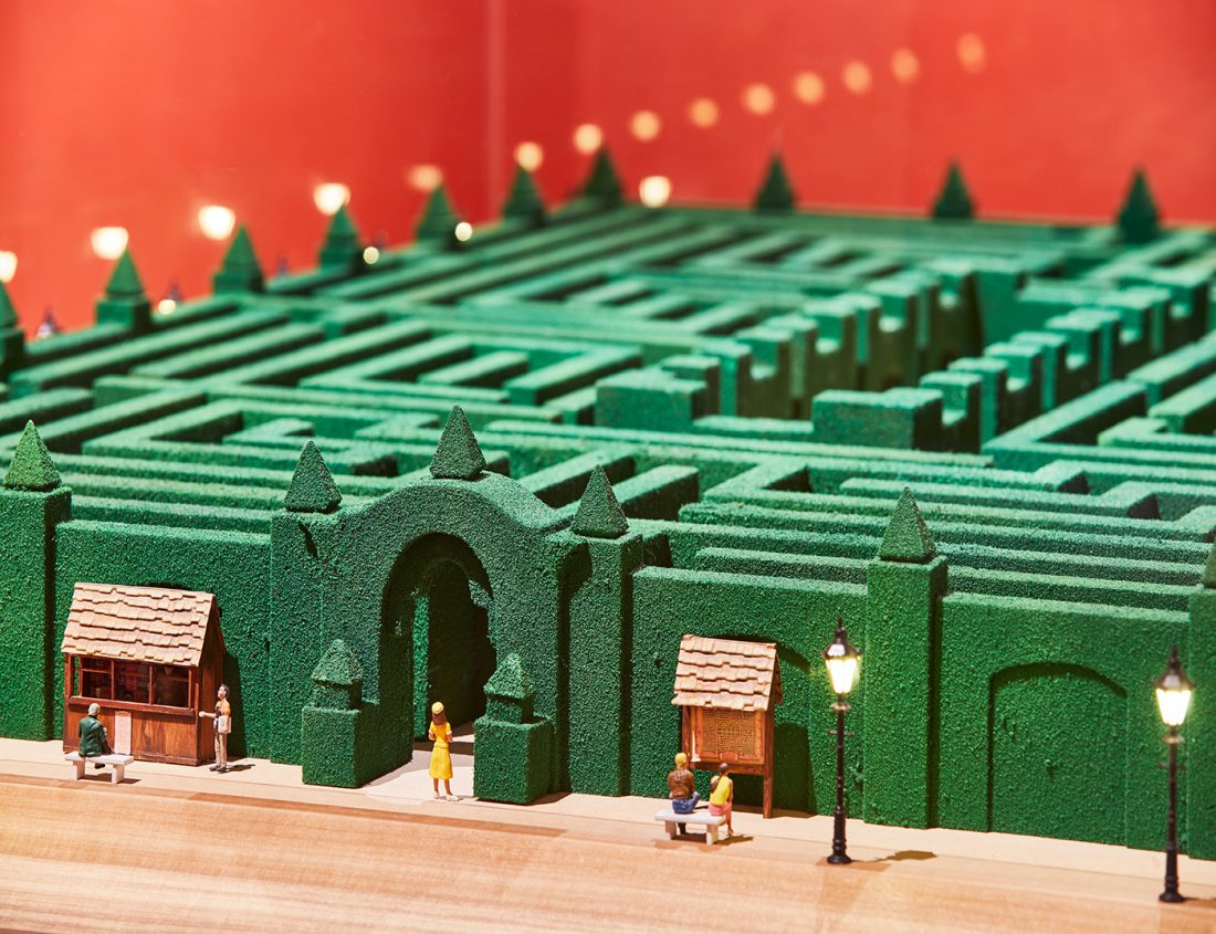 Model of the maze from The Shining | © Ed Reeve for the Design Museum