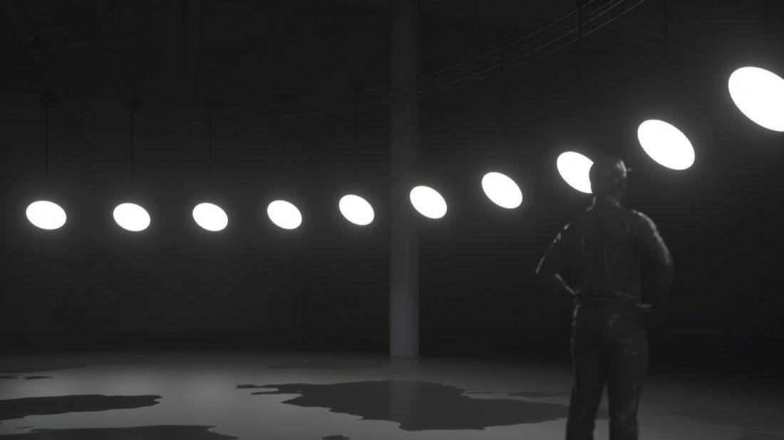 VOLNA, 'Duel' installation, 2019. Technical rendering. © VOLNA